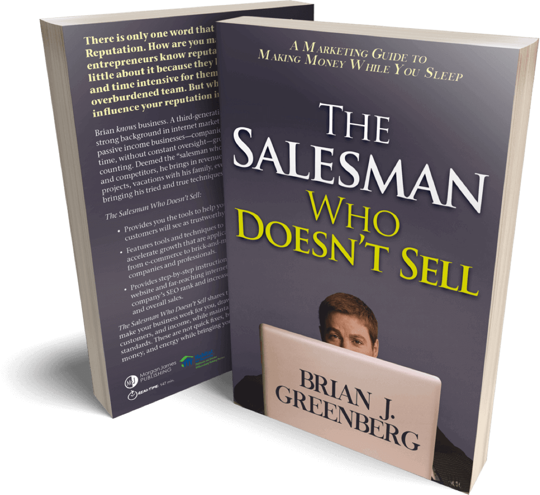 The Salesman who doesn't sell, by Brian Greenberg